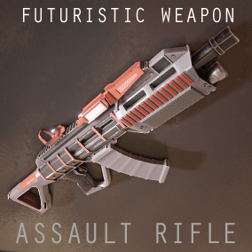 The assault Rifle is a futuristic conventionally designed weapon with 5 Variations and a used look and feel.  Comes as an animated skeletal mesh and separate parts.