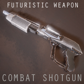 The combat shotgun is a futuristic conventionally designed weapon with 5 Variations and a used look and feel.  Comes as a skeletal mesh with animations and separate parts.