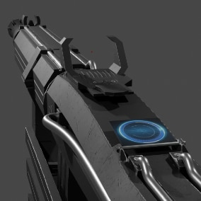 Highly detailed Scifi Gun 3D model with realistic appearance.A high quality model built with game development in mind.