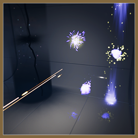 Sci-fi themed particles for weapon shots, environment fx and explosions.