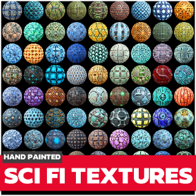 85 Hand painted tiled textures. Great for desktop or mobile games.