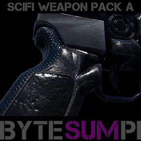 Scifi guns pack A - 7 guns