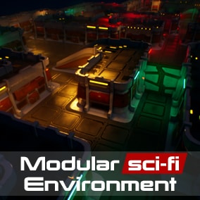Sci-fi modular Top-Down Environment is a package where you can create your own levels for tower defense or other top down camera games