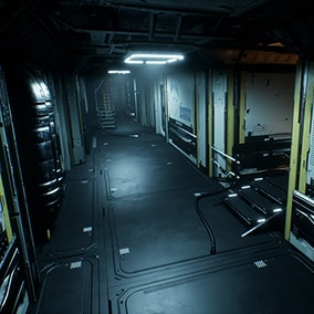 Modular parts for creating Sci-fi environment
