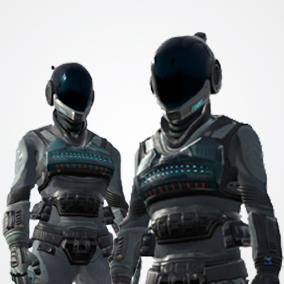Great sci-fi suit EC-1 modular pack (male and female versions) optimized for game projects.