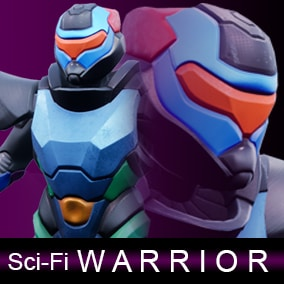 Sci-Fi warrior can be a cyber soldier or a knight