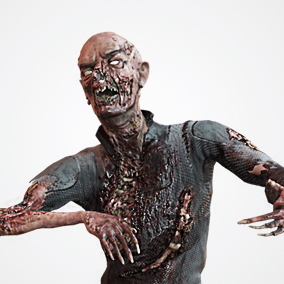 Great and scary sci-fi zombie EZ-1 character optimized for game projects.