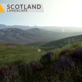 This content includes highly detailed 16 km2 (4x4 km) Scotland landscape.