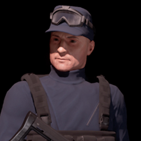 Security Soldier Game Character ready for use in your project. Compatible with epic skeleton.