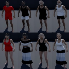 Male and Female Character Customization ready to use in any game and any project. Perfect For all games !