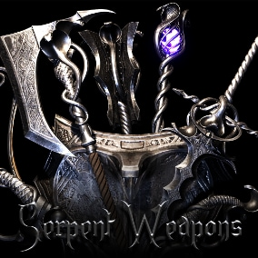 Fantasy set of medieval weapons