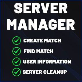 RWS Server Manager Allows you to easily manage all your servers, or rent servers from us, and easily manage all the servers from one application.
