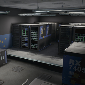 A very nice and high quality package containing modular assets that can be used to create a Server Room.