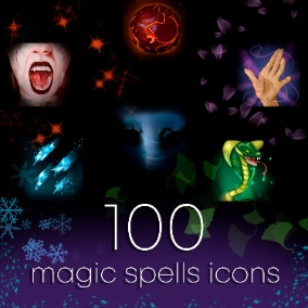 100 unique spell icons for any game