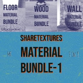 This package contains 3 different material package of sharetextures which include ground, floor, wall, and wood materials.