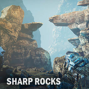 Here you find a set of rocks which you can use for construct modular cliffs.