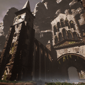 A collection of 91 modular assets, inspired by Sazava Monastery.
