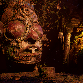 Creepy Aztec temple ruins! Ideal for adventure or horror game!