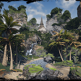 A collection of 42 assets to help you create your own awesome tropical island environments.