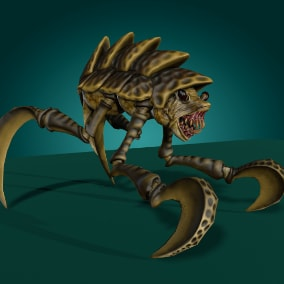 Low-poly model creature Shell Monster; Ready to game