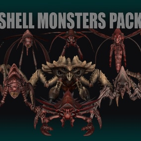 Pack of 11 monsters ready to game