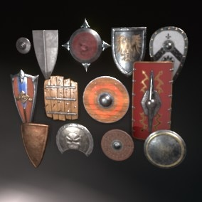 Shields of different shapes