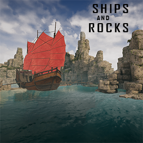 Environment. 9 modular galleons, Chinese vessel, Shipwreck, rocks, reef and foliage... Over 170 models