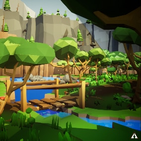 This asset package is equipped with everything you need to make a wonderful Low Poly forest environment.
