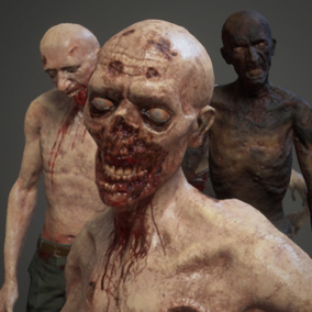 Shirtless Zombies Pack