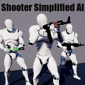 Simplified Shooter AI for your project with easy integration