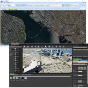 Quickly and easily load CDB content within the Unreal Editor for geospecific 3D terrain.