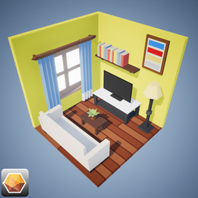 SimPoly Series House Interior Asset Pack.
