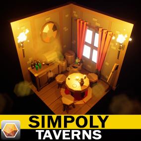SimPoly Series Tavern Interior Asset Pack.