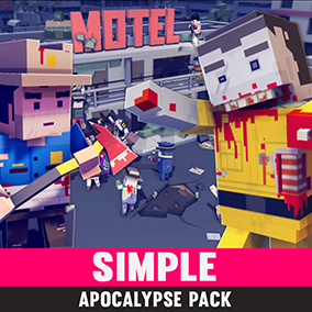 Synty Studios Presents - Simple Apocalypse. A post apocalyptic asset pack