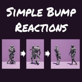 Collection of NPC bump reaction animations