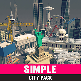 An asset pack of buildings and props to add to our other simple asset series.