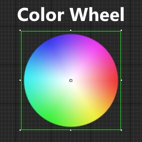 A simple color wheel that can be used to pick colors, features additional helper nodes and is totally free!