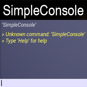 Simple console for multiplayer and singleplayer projects