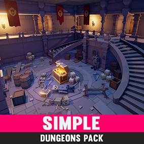Synty Studios Presents - Simple Dungeons. A Fantasy themed asset pack.