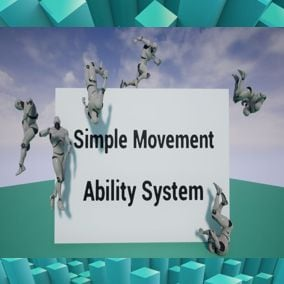 Easily modifiable ability-movement system implemented entirely in blueprints.