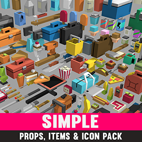 A Huge Asset Pack of Props, Items and Icons