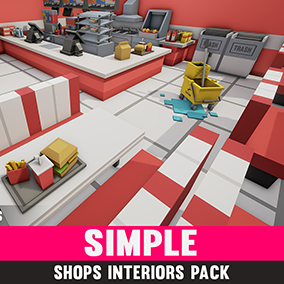 A simple asset pack of shop interior assets to add to the existing simple assets.