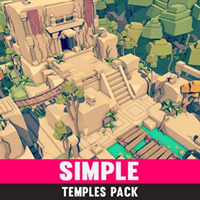 Synty Studios Presents - Simple Temples. A Fantasy themed asset pack.