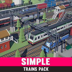 An asset pack of Train assets to create a Simple style game.