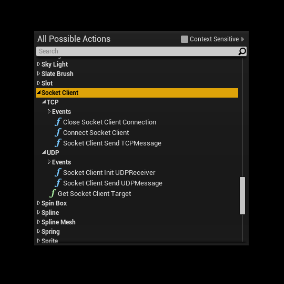 UDP TCP Socket Client. Easy to use TCP and UDP Sockets in Blueprints.