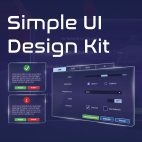 Simple UI Design Widget is high-quality user interface set for your UE4 projects and created entirely with Blueprint classes.