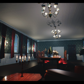 A Simple Victorian Dining Room.