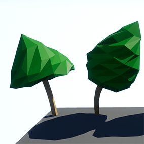 Simple & efficient low polygon nature assets - rocks, trees, bushes - different sizes & variations