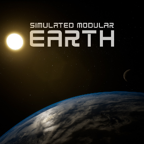 Simulated Modular Earth System with Moon, Sun, Space