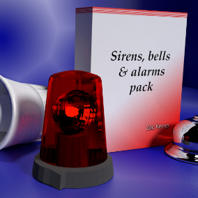 Variety of high-quality, looping siren, bell, and alarm sound effects.
